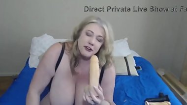 Dreamy busty housewife in solo is fucking her twat