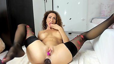 hot milf with big dildo in ass