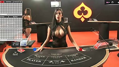 Sexy Dealer(Croupier) Taty  Online Baccarat