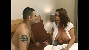 Mature stepmom gets hot creampie from her stepson with very big cock
