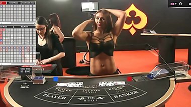 Sexy Dealer(Croupier) Holly  Online Baccarat
