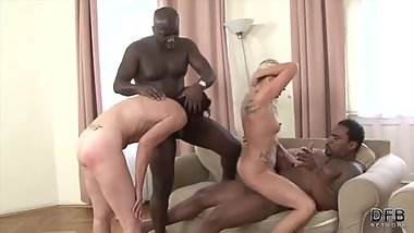 Brittany & Lara Red - Two hot matures fuck black guys DBF Network