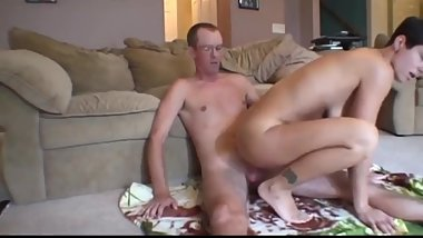 My busty wife cheating on with her her boss with very big cock