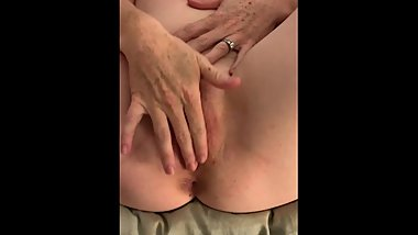 Cum Filled Redhead MILF Plays with Creampie Pussy