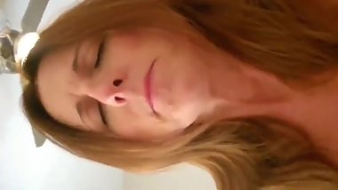 Crazy mature milf having a real orgasm with her boss