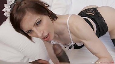 French Maid To Hire 7 Ep.1 - Ava Courcelles fucks a guest in POV