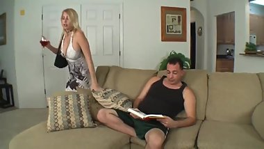 Son cums inside his naughty stepmom