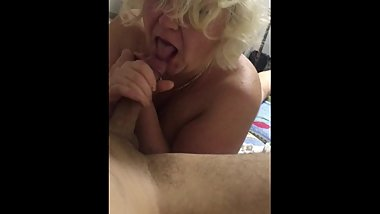 Blowjob from mature mom