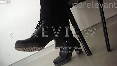 Candid sole pov hard dirty high heeled boots milf unknown CSP04