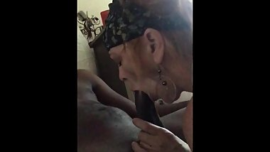 My friend's mom deepthroat my bbc