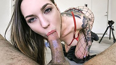 MYLF - Tattooed Beauty Sucks On a Thick Dick