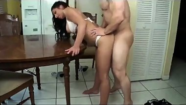 Amazing milf with hot body gets hot creampie from her best friend