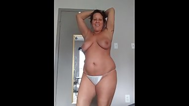 Sexy Mom Dancing in Panties