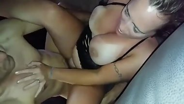 Husband films his busty wife enjoying hardcore sex with his brother
