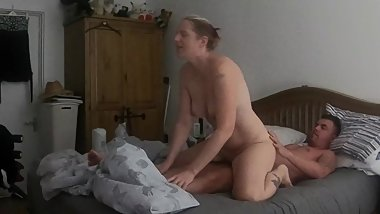 mom reverse cow girl riding stepson cock