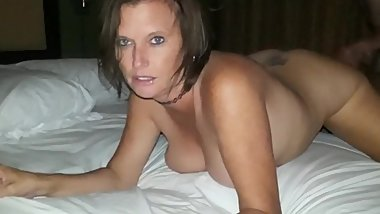 Husband films his crazy busty mother enjoying hardcore sex with her ex