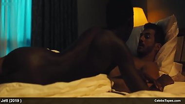 Carla Gugino & Jodie Turner-Smith all nude and striptease scenes