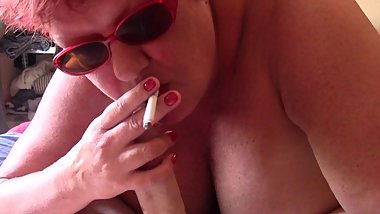 POV Sloppy Smokey Blowjob with Facial