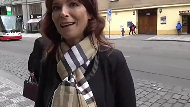 Busty and Mature American MILF In Enjoying Anal Sex with Stranger Prague