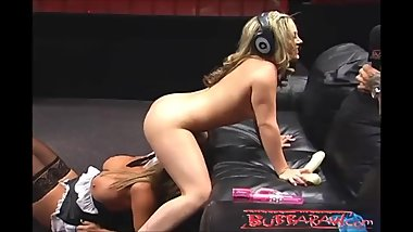 Carmen Valentina and Amber Lynn Bach FUCK LIVE on the radio!
