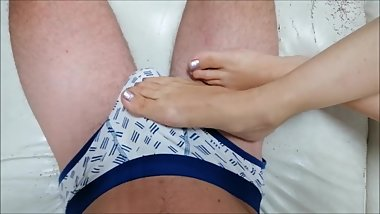 Sexy Feet in daily dick massage