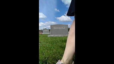 Cemetery Pee Outside Upskirt mature milf bbw