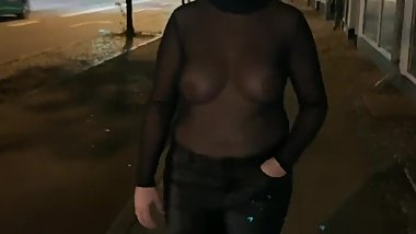 See through in public street