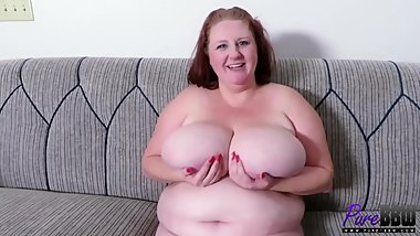 BTS interview with super busty BBW MILF Sapphire