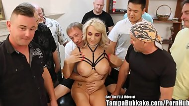 Big Tit Blonde Beauty Harper Gang Fuck Party!