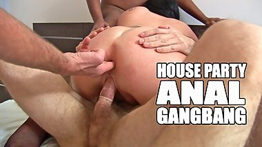 Anal gangbang with double penetration