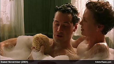 Charlize Theron & Lauren Graham naked and lingerie movie scenes