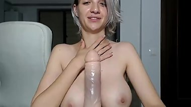 BIG TITS COCK WORSHIP AND DILDO SUCKING
