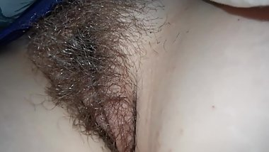 New - Unaware Hairy Wife Pussy and Ass Close-up while sleeping