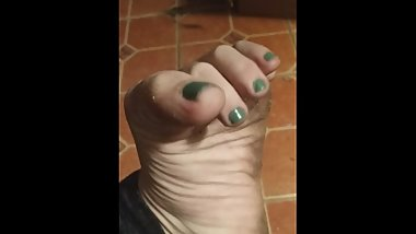 Small penis humiliation and foot tease