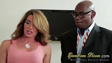 Cuckold watching his hotwife banging with a big black cock