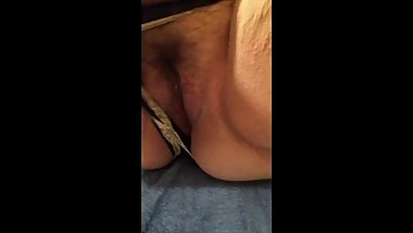 Getting out the Big Gun - Magic Wand Panties Masturbation pierced