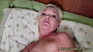 Real horny stepmom lets stepson fuck her tight asshole