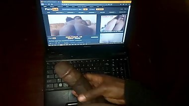 Masturbating to my lesbian step sister's porn video