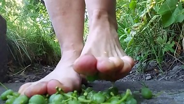 Bare Feet Squishing Grapes And Then Getting Rinsed, ASMR Muse, SFW
