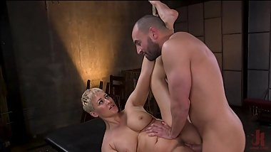 Curvy Whore Ryan Keely Restrained and Fucked in Rope Bondage