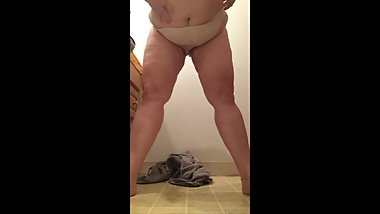 PISS ON FLOOR and a Few Others BBW Mature MILF Pierced Labia