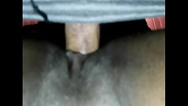 Ebony Milf moans as I Fuck her, underview POV