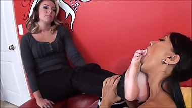 Dre Hazel & Jasmine - Horny Mindless Sexy MILF is a controlled foot slave