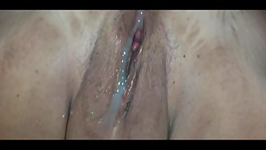 MATURE MAN LICKED MY PUSSY AND CAMSHOT ON IT AFTER FUCKING