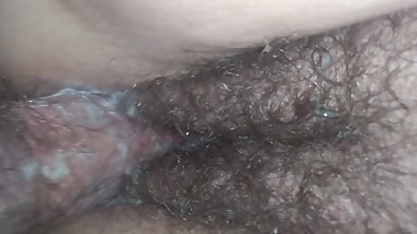 Creampied pussy fucked doggystyle close up view of my loud sloppy wet pussy