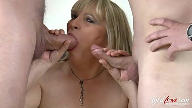 AgedLovE Threesome Mature Hardcore Action