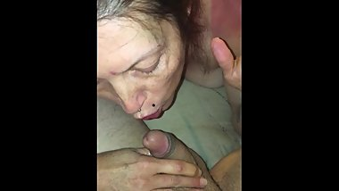 cheating whore gives me a smoking blowjob then squirts on my cock