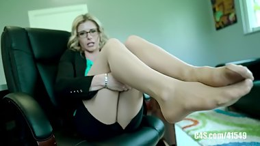 Cory Chase sexy pantyhose feet and soles