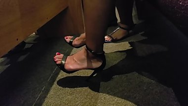 Ebony feet at church 2
