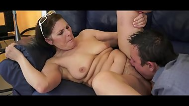 Older beauty Margo blows dick with experience